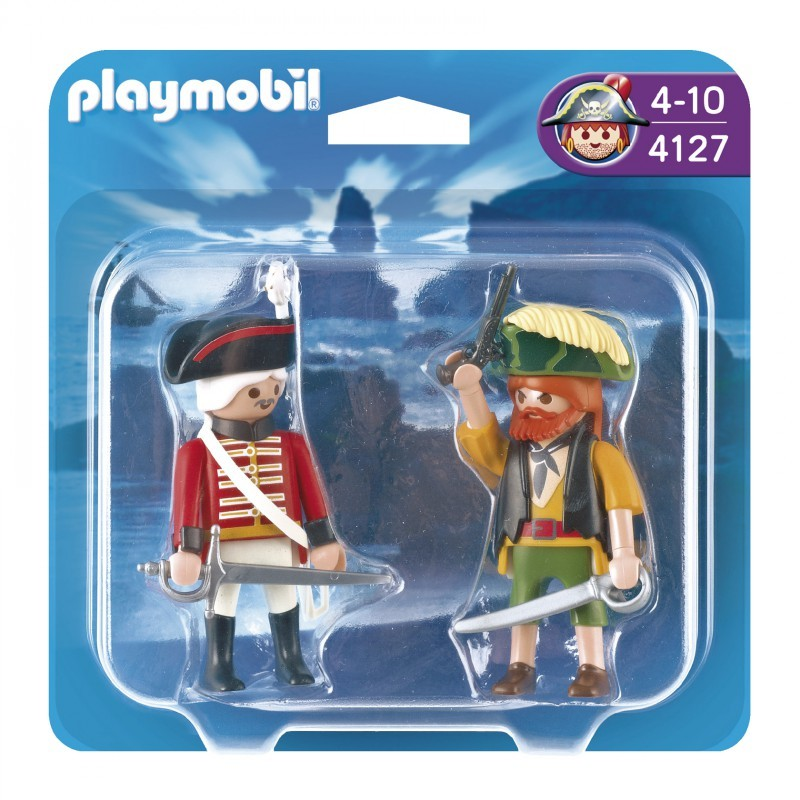 playmobil 4127 - Duo Pack pirata y soldado