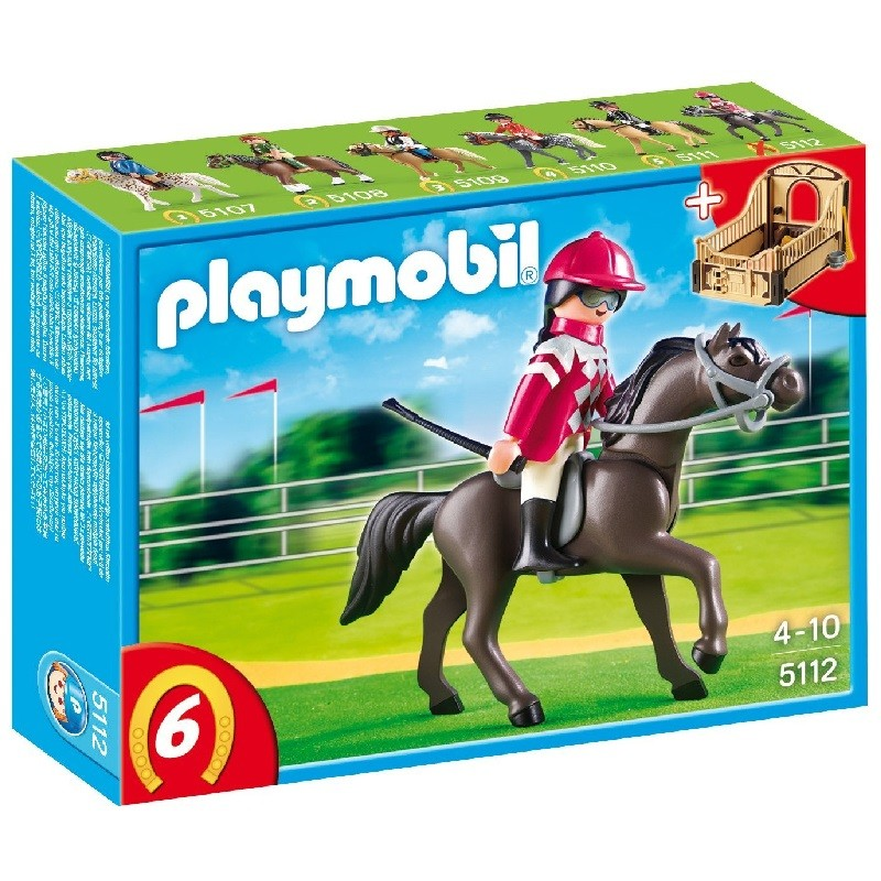 playmobil 5112 - Caballo arabe con establo marron y amarillo