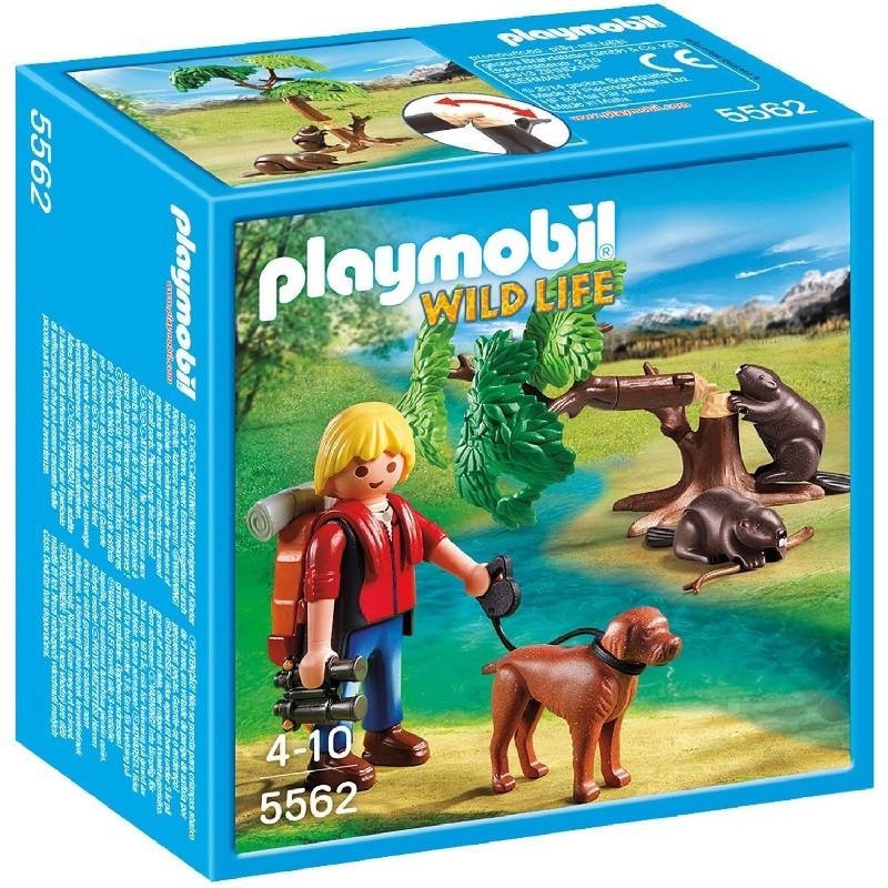 Playmobil 5562 castores con mochilero for Casa del arbol playmobil carrefour