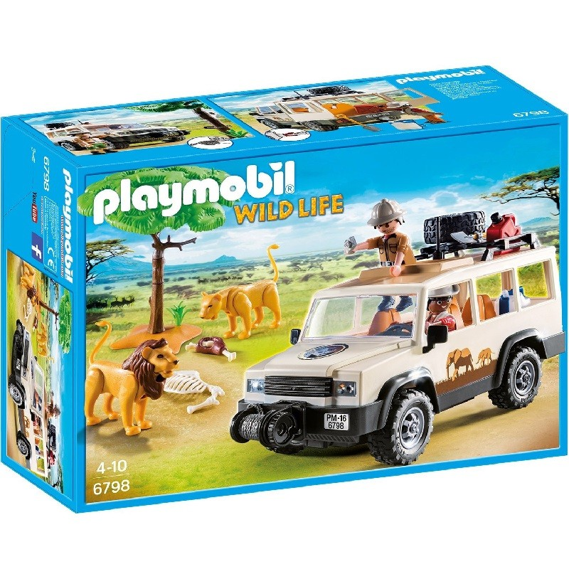 playmobil 6798 todo terreno safari con leones. Black Bedroom Furniture Sets. Home Design Ideas