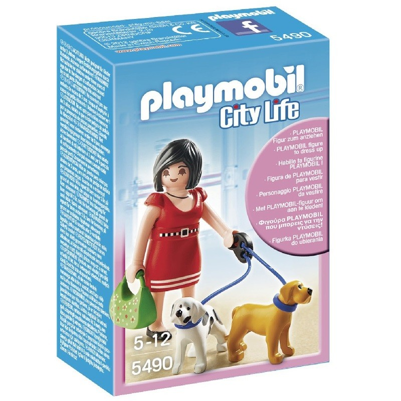 playmobil 5490 - Mujer con Cachorros