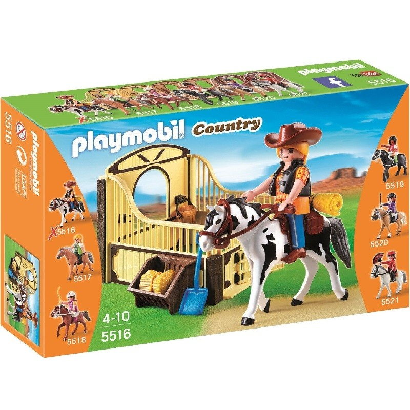 playmobil 5516 - Caballo de Rodeo con Establo