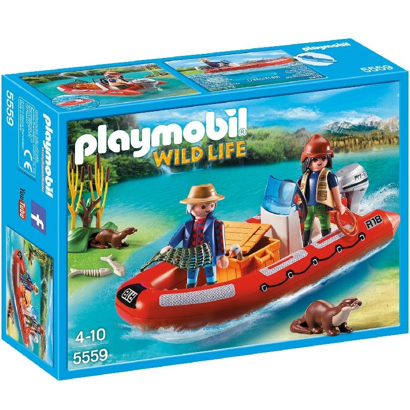 Playmobil 5559 bote hinchable con exploradores for Casa del arbol playmobil carrefour