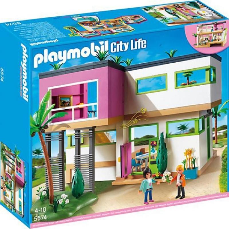 Playmobil 5574 mansi n moderna de lujo for Casa moderna playmobil 5574
