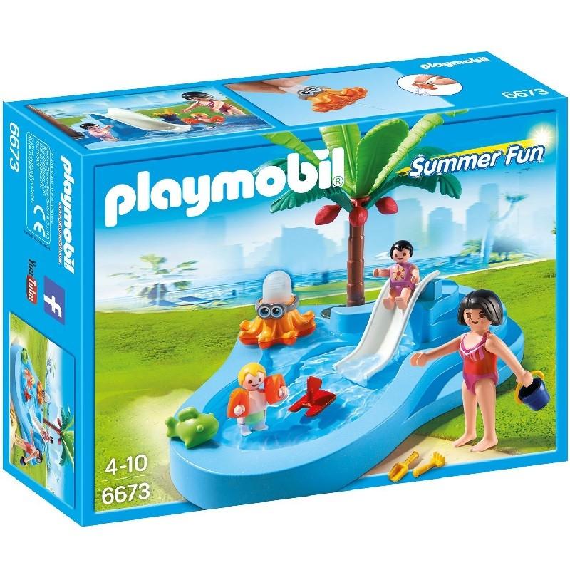Playmobil 6673 piscina para beb s con tobog n for Piscinas para bebes