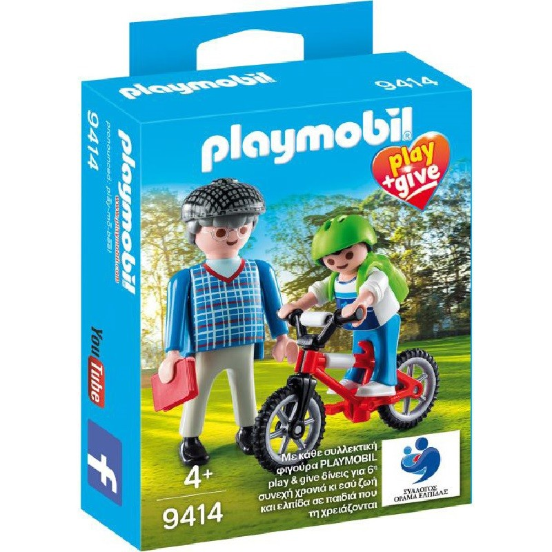 playmobil 9414 - Abuelo con nieto play and give