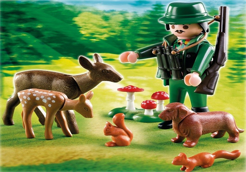 playmobil 4938 - Ranger y animales del bosque