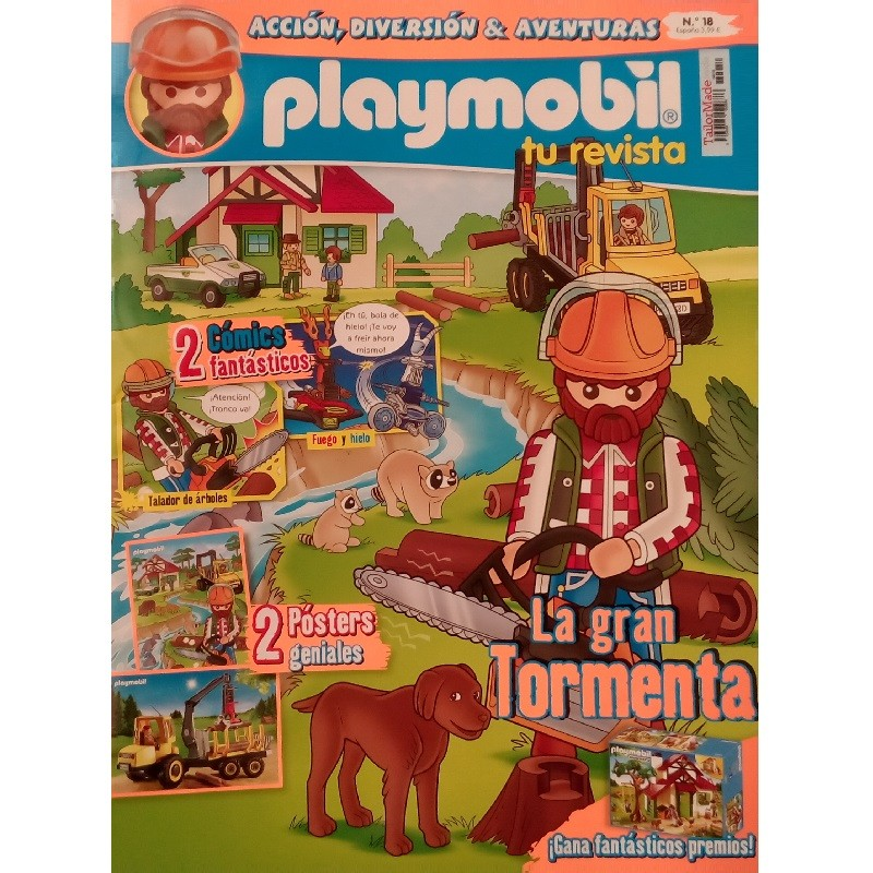 Revista PLAYMOBIL Numero 19: Un Ladron en la Obra (Tailor Made Media 2017)