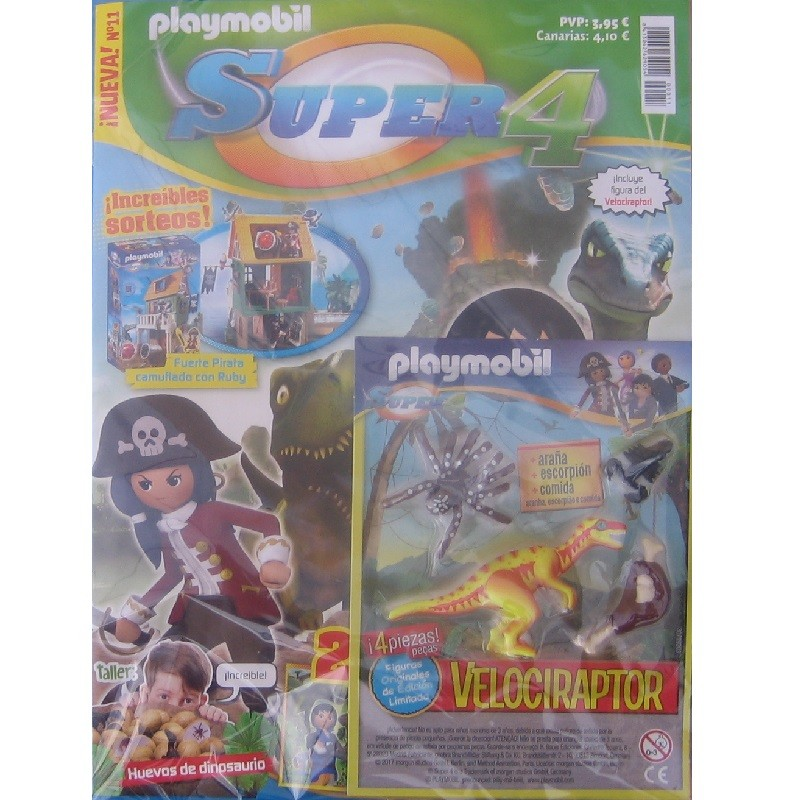 playmobil n11 super4 - Revista Playmobil Super 4 numero 11