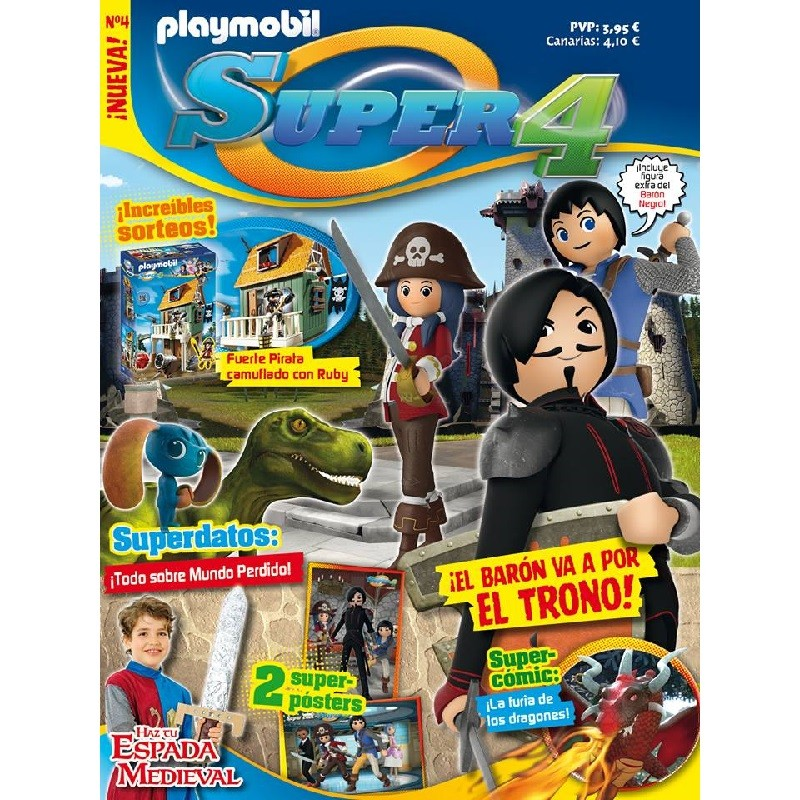 playmobil n 4 Super4 - Revista Playmobil Super 4 numero 4