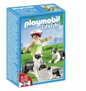 Playmobil 5213 Border Collies con Cachorro