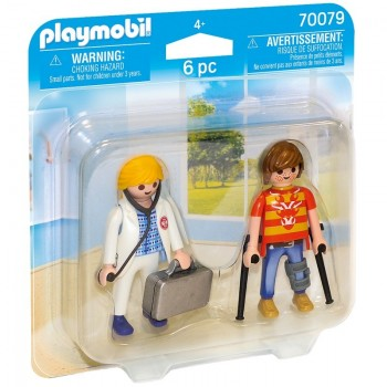 Playmobil 70079 Duo Pack Doctora y Paciente