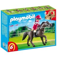 Playmobil 5112 Caballo arabe con establo marron y amarillo