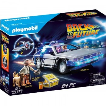 ver 2376 - Delorean con Doc y Marty