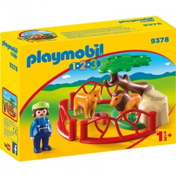 Playmobil 9378 1.2.3 Recinto Leones