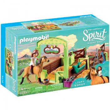 Playmobil 9478 Establo Lucky y Spirit