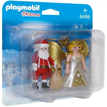 Playmobil 9498 Duo Pack Papá Noel con Ángel