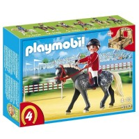 Playmobil 5110 Trakehner con establo marrón