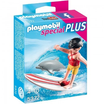Playmobil 5372 Surfista con Tabla de Surf y Delfín