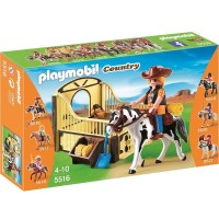 Playmobil 5516 Caballo de Rodeo con Establo