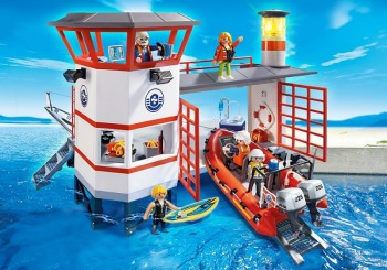 playmobil 5539 - Estación Guardacostas con Faro