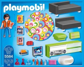 Playmobil 5584 Sala De Estar Moderna Villa De Lujo