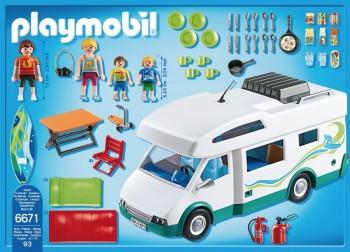 Playmobil 6671 caravana de verano for Autocaravana playmobil