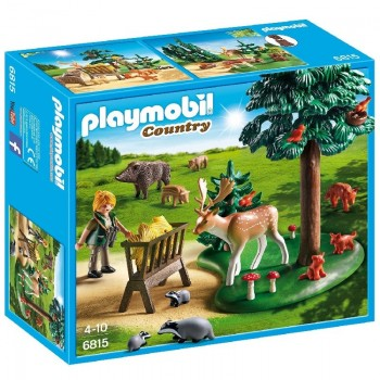 Playmobil 6815 Animales del bosque con Forestal