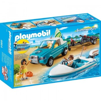 Playmobil 6864 Pick-up de surf con lancha