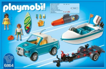 playmobil 6864 - Pick-up de surf con lancha