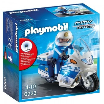 Playmobil 6923 Moto de Policía con luces Led
