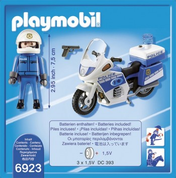 playmobil 6923 - Moto de Policía con luces Led