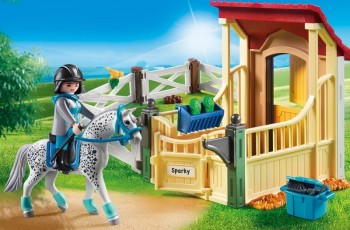 playmobil 6935 - Caballo Appaloosa con Establo