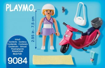 playmobil 9084 - Mujer con Scooter