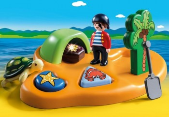 playmobil 9119 - 1.2.3 Isla Pirata