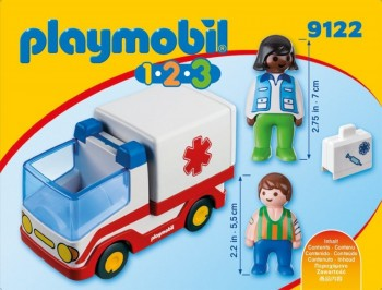 playmobil 9122 - 1.2.3 Ambulancia