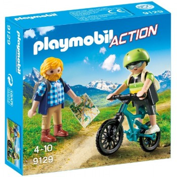 Playmobil 9129 Ciclista y Excursionista