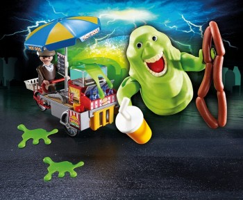 playmobil 9222 - Slimer con Stand de Hot Dog