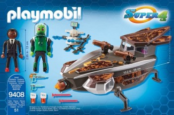 playmobil 9408 - Gene y Sykroniano con Nave