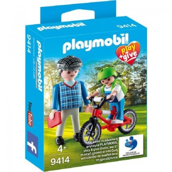Playmobil 9414 Abuelo con nieto play and give