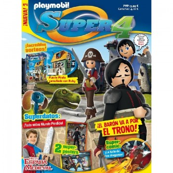 Playmobil n 4 Super4 Revista Playmobil Super 4 numero 4