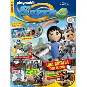 Playmobil n 5 Super4 Revista Playmobil Super 4 numero 5