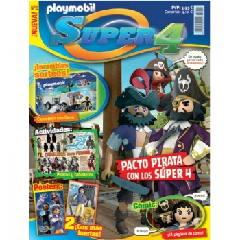 Playmobil n 1 Super4 Revista Playmobil Super 4 numero 1